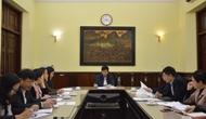 Thứ trưởng Lê Quang Tùng nghe báo cáo về công tác chuẩn bị cho Diễn đàn Cấp cao Du lịch Việt Nam