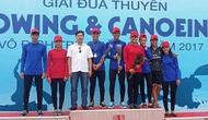 Hà Tĩnh giành 5 huy chương Giải Đua thuyền Rowing và Canoeing vô địch trẻ quốc gia năm 2017