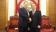 Thứ trưởng Lê Khánh Hải làm việc với Đặc phái viên Chính phủ Anh về Thương mại và Văn hóa