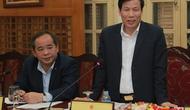 Ban cán sự Đảng Bộ VHTTDL làm việc với đoàn công tác của Ban Bí thư TƯ Đảng