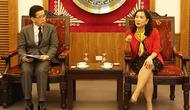 Thứ trưởng Đặng Thị Bích Liên làm việc với Phó Tổng Giám đốc Viện Nghiên cứu Sanno Nhật Bản