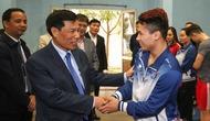 Bộ trưởng Nguyễn Ngọc Thiện làm việc tại Trung tâm Huấn luyện thể thao Quốc gia