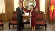 Thứ trưởng Đặng Thị Bích Liên tiếp và làm việc Cục trưởng Cục Chính sách Du lịch Hàn Quốc