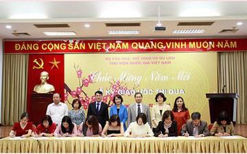 Thư viện Quốc gia Việt Nam tổ chức gặp mặt đầu Xuân 2019 và Lễ Ký giao ước thi đua