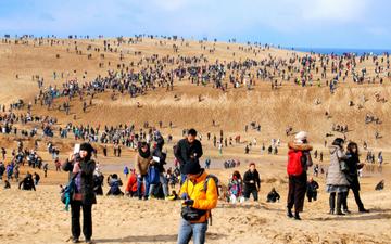 Nhật Bản kêu gọi du khách ngừng hành vi vẽ graffiti trên cồn cát cổ đại Tottori