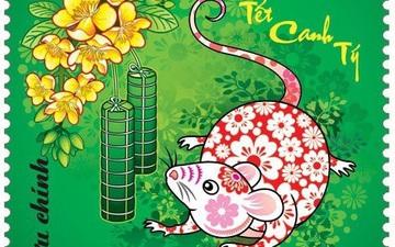 Hình tượng chuột với thiết kế mới lạ trong bộ tem Tết Canh Tý 2020
