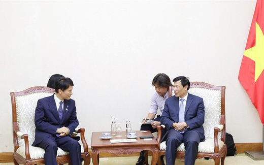 Bộ trưởng Nguyễn Ngọc Thiện tiếp đoàn đại biểu cao cấp của tình Kagoshima (Nhật Bản)