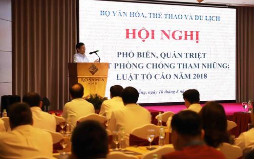 Hội nghị phổ biến, triển khai Luật Phòng, chống tham nhũng và luật tố cáo năm 2018
